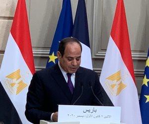 20 رسالة حاسمة من الرئيس السيسى خلال 72 ساعة في باريس.. خطورة الجماعات الإرهابية وعلى رأسها الإخوان
