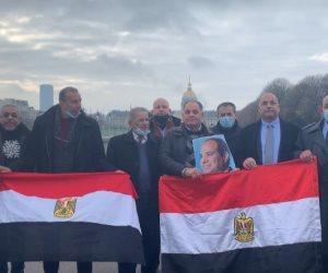 وقفة الجالية المصرية فى باريس تزامنا مع لقاء الرئيسين السيسى وماكرون.. صور