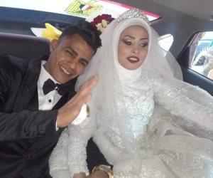 العروسان ميزار وأيمن يشكران الرئيس السيسى على توفير شقة سكنية لهما