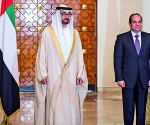 الرئيس عن زيارة الشيخ محمد بن زايد لمصر: تشاورنا بجميع القضايا بقوة وإرادة