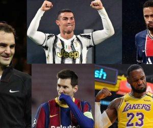 بالأرقام.. نجوم الرياضة الأعلى أجرا في عام 2020