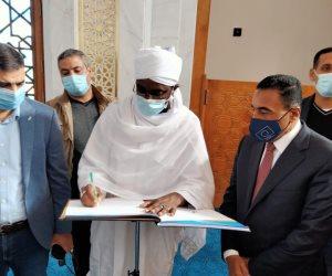 خلال زيارة مدينة العلمين.. وزير الأوقاف السوداني: مصر تقدمت جدا لأنها نظرت للمستقبل