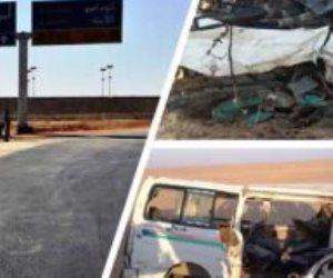 دماء على الأسفلت.. تصادم سيارتي ربع نقل وميكروباص على الطريق الصحراوى في أسوان