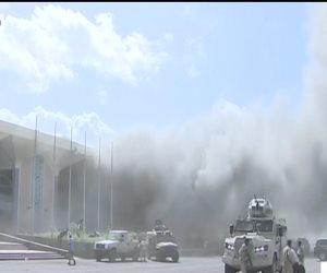 دوى انفجار فى مطار عدن الدولى لحظة وصول أعضاء الحكومة اليمنية الجديدة