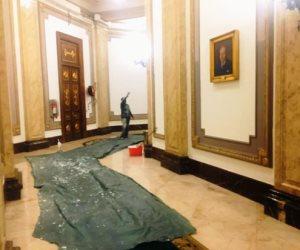 شاهد.. مجلس النواب يتزين تمهيدًا لانعقاد الفصل التشريعى الثاني