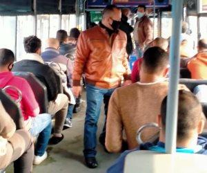 حملات لفرض غرامات عدم ارتداء كمامة بأتوبيسات النقل العام في الجمهورية.. صور
