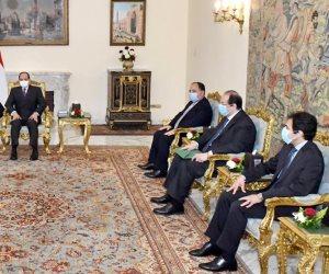 """الرئيس السيسي يستقبل وزير الخزانة الأمريكي """"منوشن"""""""