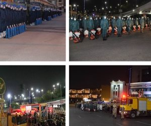 القوات المسلحة تبدأ منتصف الليل تطهير الأماكن العامة للوقاية من كورونا