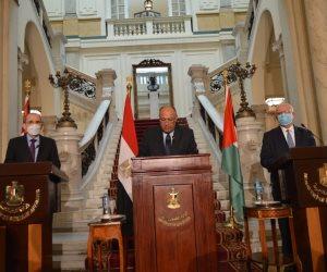 في القاهرة.. وزراء خارجية مصر والأردن وفرنسا وألمانيا يبحثون استئناف عملية السلام بين فلسطين وإسرائيل