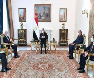 نقل الخبرات والتكنولوجيا الفرنسية لمصر.. تفاصيل لقاء الرئيس السيسي بوزير خارجية فرنسا