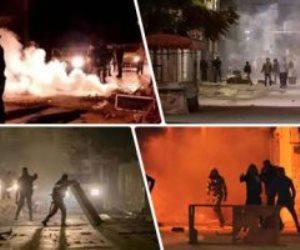 تونس علي صفيح ساخن.. صدامات بين المتظاهرين وقوات الأمن للتنديد بالأوضاع المعيشية