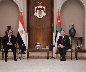 قمة مصرية أردنية في قصر بسمان.. الرئيس السيسي يلتقي الملك عبدالله الثاني