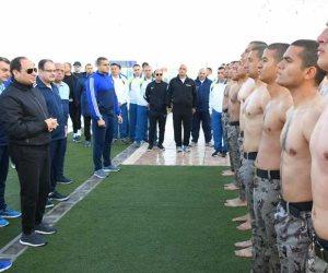 الرئيس السيسى فى زيارة تفقدية لأكاديمية الشرطة فجرًا