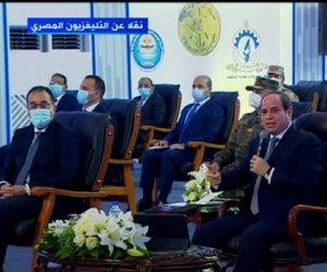 """الرئيس السيسي محفزا الشركات المصرية لتطوير الدولة: """"يلا نشتغل ونعمر لبلدنا"""""""