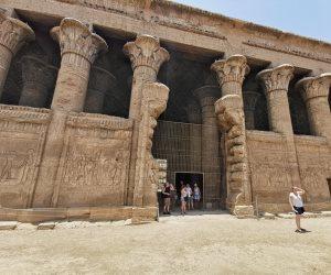 """يضم أجمل صالات الأعمدة فى مصر ..استكمال ترميم وتطوير وإظهار ألوان """"معبد خنوم"""" بالأقصر"""