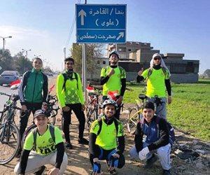 بلدنا أجمل على العجلة.. مبادرة لشباب من الشرقية يجوبون محافظات مصر لتشجيع السياحة الداخلية