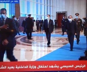 بدء حفل عيد الشرطة بقراءة القرآن الكريم بحضور الرئيس السيسي