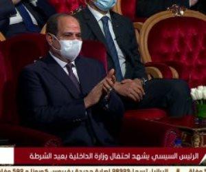 الرئيس السيسى يشاهد فيلما تسجيليا عن إنجازات وزارة الداخلية خلال عام 2020