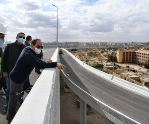 الرئيس السيسي يتفقد عددًا من مشروعات تطوير القاهرة الكبرى