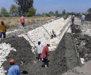 """ضمن """"حياة كريمة"""".. مشروع تأهيل وتبطين الترع يشق الأقصر بأطوال 79 كم (صور)"""