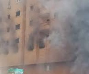 حريق عقار في فيصل بالجيزة وإغلاق الطريق الدائري اتجاه المريوطية