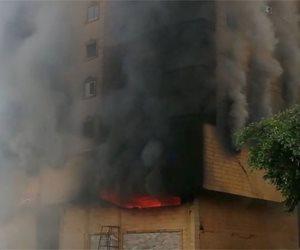 استمرار اشتعال النيران بعقار فيصل بالجيزة يؤخر معاينة اللجان الهندسية