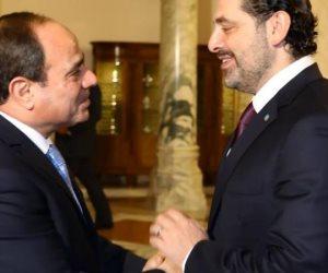 سعد الحريرى يحتفى بلقائه بالسيسى: جدد موقف مصر الثابت تجاه التعاون مع لبنان