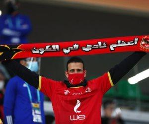انتهاء الشوط الأول بتقدم الأهلي على الدحيل بهدف حسين الشحات