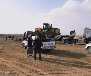 إعادة الحياة إلى طبيعتها.. وفتح الطرق المغلقة بسبب السيول بين شمال وجنوب سيناء (صور)