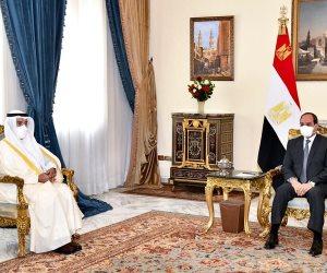 الرئيس يوكد خصوصية العلاقات المصرية الخليجية ودعم التضامن العربى كنهج استراتيجى