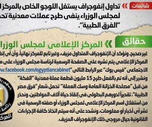 """الحكومة تعلن طرح 15 مليون عملة معدنية تحمل شعار """"فرق مصر الطبية"""""""