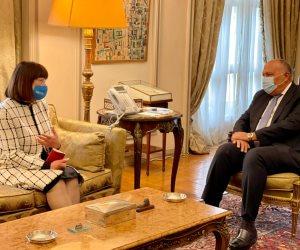 شكرى يبحث مع المنسق المقيم الجديدة للأمم المتحدة بالقاهرة التنسيق والتعاون