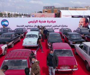 تسليم السائقين الملتزمين سيارات جديدة تعمل بالغاز ضمن مبادرة هدية الرئيس السيسى.. فيديو