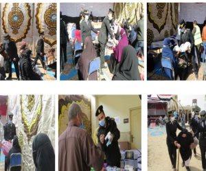 وزارة الداخلية تشارك في مبادرة حياة كريمة لمساعدة قرى ونجوع مصر (صور)