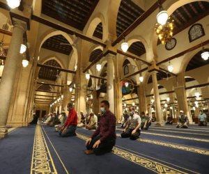 إقامة صلاة التراويح في شهر رمضان بالمساجد المسموح فيها بخطبة الجمعة