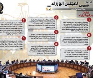 الحصاد الأسبوعي لمجلس الوزراء: 13 اجتماعا.. و8 قرارات مهمة
