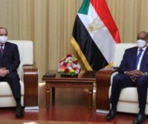 البرهان يشكر السيسي على المساهمة في رفع اسم السودان من «قائمة الإرهاب»