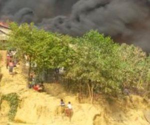 كارثة ببنجلادش.. حريق يدمر آلاف المساكن في مخيمات اللاجئين الروهجينا