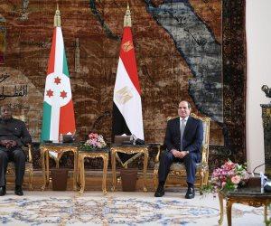 """الرئيس السيسى: بحثت مع """"ندايشيمى"""" تيسير عمل الشركات المصرية فى بوروندى"""