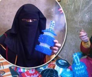 """شجع منتج بلدك.. """"ندي"""" تصنع فوانيس رمضان من الخرز لمساعدة أسرتها"""