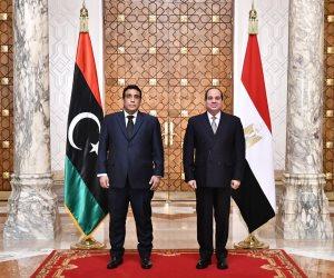 الرئيس السيسى: مصر على أتم استعداد لتقديم خبراتها للحكومة الليبية