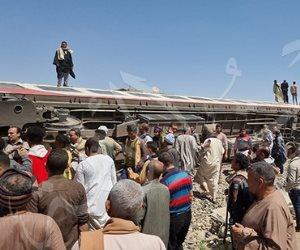 الصحة: ارتفاع أعداد المصابين بحادث قطارى سوهاج لـ 165 مصابا و32 حالة وفاة
