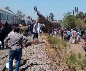 قرارات النائب العام بشأن حادث تصادم قطارى سوهاج..  تشكيل لجنة لبيان مدى صلاحية القطارات