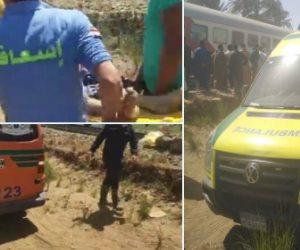 وزيرة الصحة: أول سيارة إسعاف وصلت إلى حادث قطاري سوهاج بعد 5 دقائق