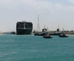 أول صور لنجاح تحريك السفينة الجانحة باستخدام المحركات فى اتجاه منطقة البحيرات