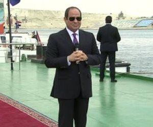 الرئيس السيسى: التحقيق فى حادث السفينة الجانحة من شأن قناة السويس ولن أتدخل فيه