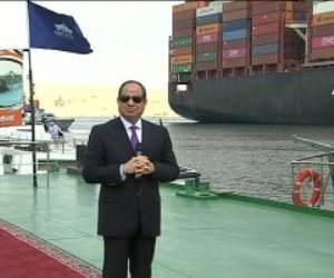 الرئيس السيسى: أضم صوتى لمقترح حصول قناة السويس على جائزة نوبل للاقتصاد