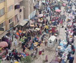 عشوائية وكورونا وبلطجة.. لصالح من تترك محافظة الجيزة «سوق الثلاثاء» هكذا؟ (صور)