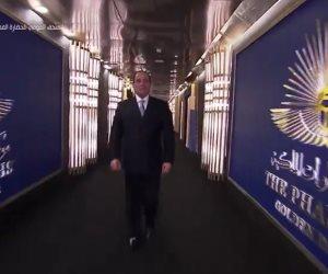 الرئيس السيسي يستقبل موكب المومياوات الملكية على أبواب المتحف القومى للحضارة
