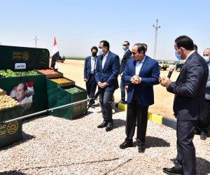 الرئيس السيسي يشهد موسم حصاد البطاطس وبنجر السكر ضمن مشروع مستقبل مصر